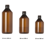 28 mm 1000 ml Amber Pet Şişe